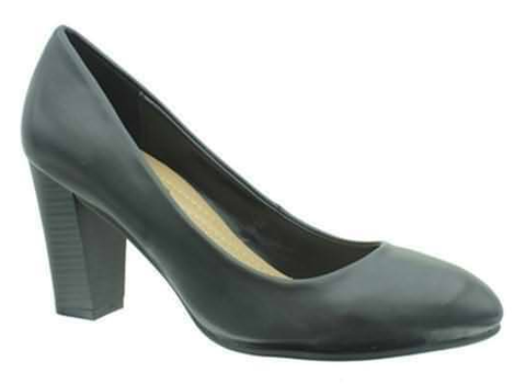 Le Comfort Madyson-2 Women Curved Front Fudge Heel Shoe Black-SHW