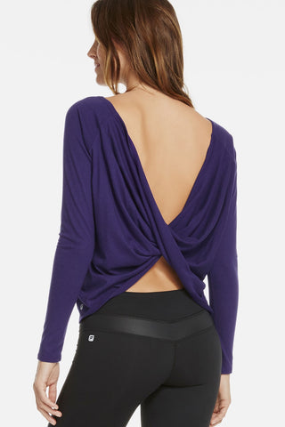 Fabletics Switchback Tee Purple-SHW/GG