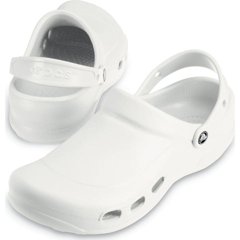 Crocs 10073-100 -Specialist Medical Professionals Clogs Unisex Shoe Roomy Fit In White-SHG