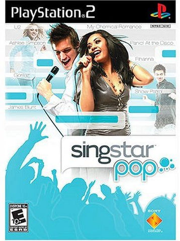 PS2 Singstar Pop Game