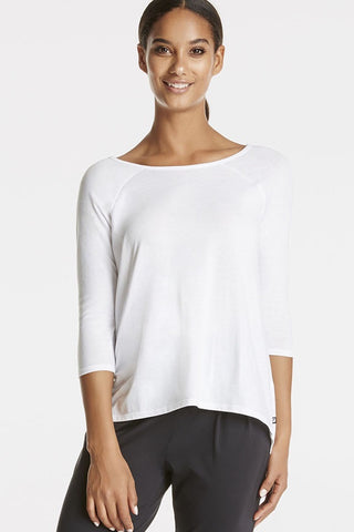 Fabletics Women Long Sleeve Neema Top White-GG