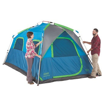Coleman 14X8 Tenaya Lake 8 Person Fast Pitch Instant Cabin Camping Tent Blue/Grey