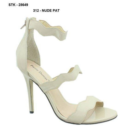 Pierre Dumas Barry-2Zip Up Back Heels-Taupe-SHW