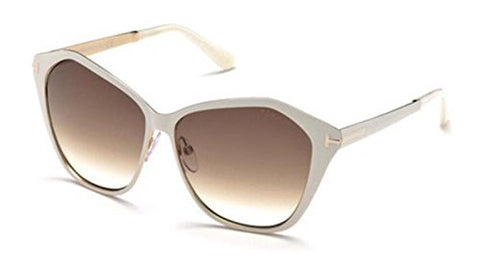 Tom Ford Lena TF391 25F-Women Sunglass Ivory/Gold/Brown Gradient-GL