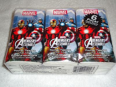 Marvel Avengers Pocket Tissues, 6 Pack