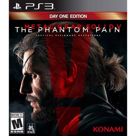 PS3 The Phantom Pain - Metal Gear Solid V Game - Day One Edition