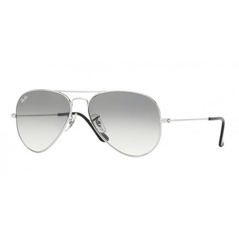 Ray-Ban RB3025 003/32 Aviator Large Silver/Crystal Grey Gradient Sunglass-GL