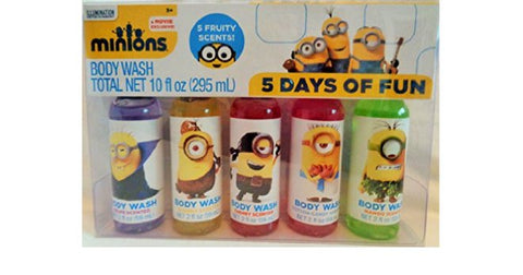 Minions Body Wash Gift Set, 5 Days of Fun Fruity Scents, Age 3+