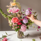 Virtual Workshop: Tall Glass Vase Arrangement (Flowers delivered to your door)