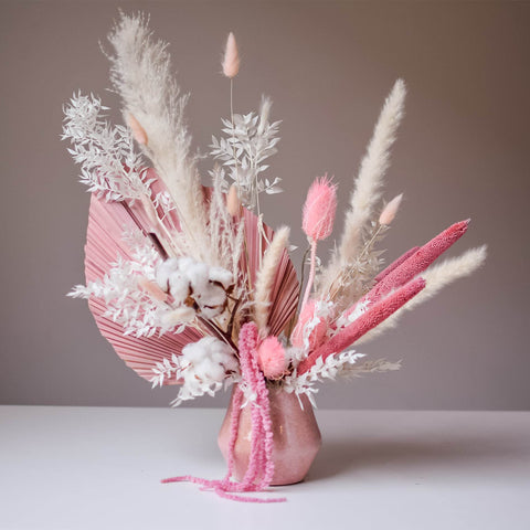 Phoebe 2.0 - Dried Arrangement with Pinks