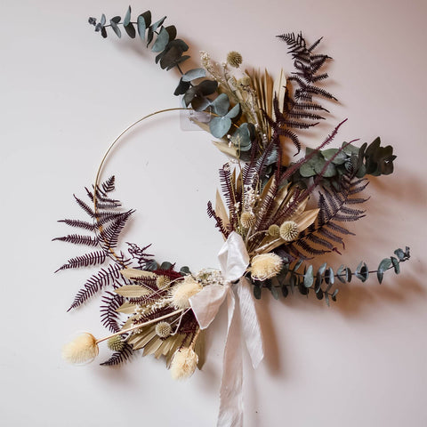 Everlast Dried Wreath Workshop (Kit Delivered to your door)