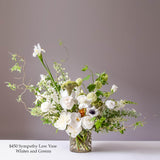 Sympathy Arrangements - Low Glass Vases