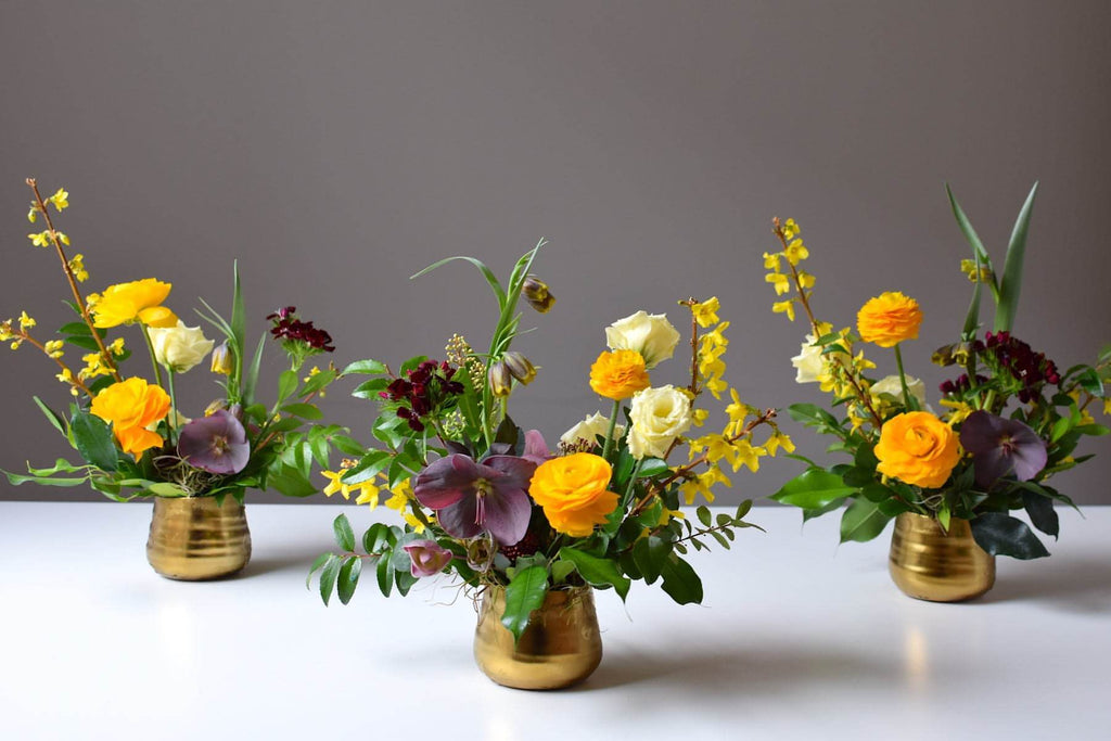 Mini Gold Centrepieces (Trio)