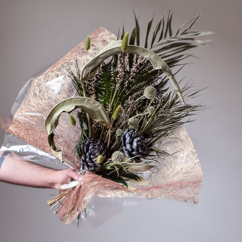 Midnight Peacock - Dried Bouquet