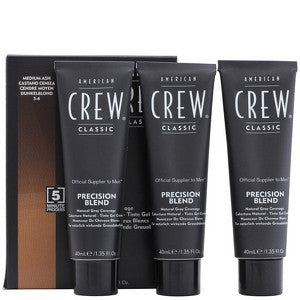 American Crew Precision Blend Mens Hair Dye 5/6 Medium Ash 3x40ml