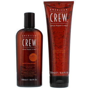 American Crew Gifts and Sets Daily Shampoo 250ml and Light Hold Gel 250ml