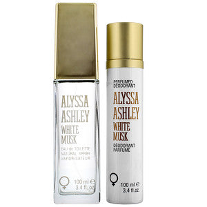 Alyssa Ashley White Musk Eau de Toilette Spray 100ml and Deodorant Spray 100ml