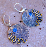 Fancy Bohemian Style Turquoise & Solid 925 Sterling Silver Earrings