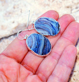 Beautiful Desert Rose Druzy set in Solid 925 Sterling Silver Earrings