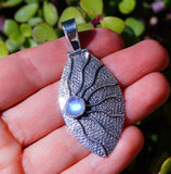 Boho Style Rainbow Moonstone Sun set in Solid 925 Sterling Silver Pendant