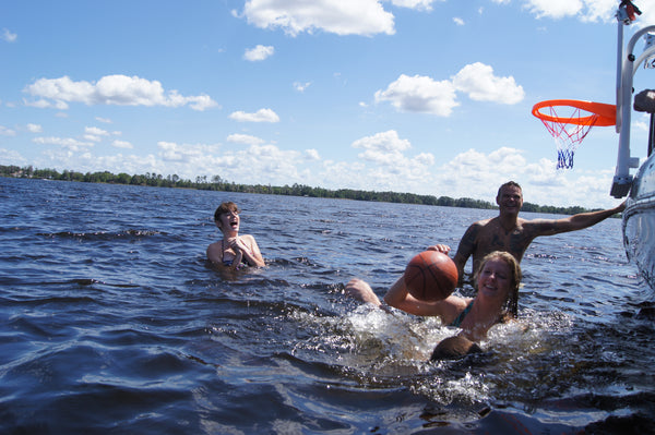 Boating basketball