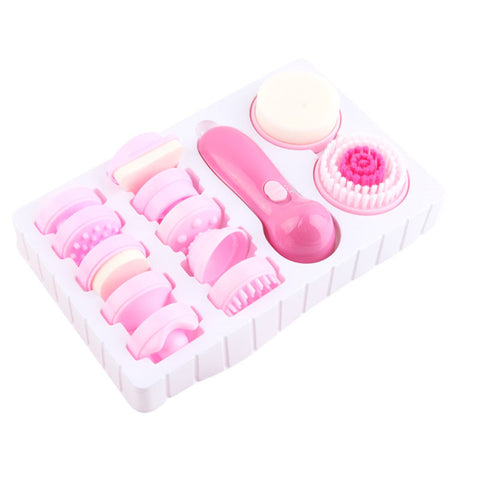 12 Piece Electric Facial Cleansing Brush Kit