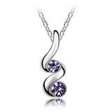 18K White Gold Plated Austrian Crystal Sprout Necklace & Pendant - Victoria Vault