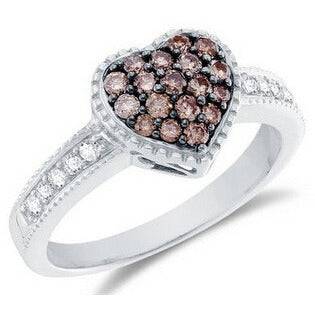 """Chocolate"" Crystal Engagement Ring - Victoria Vault"