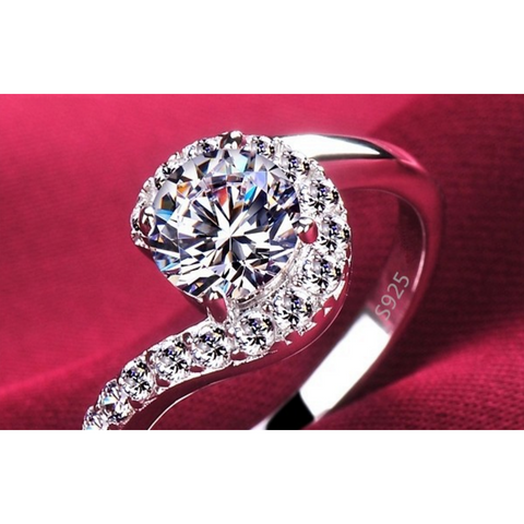 Diamond Swirl Engagement Ring - Victoria Vault