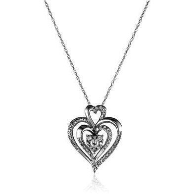 Diamond Heart Pendant / Necklace