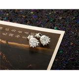 925 Sterling Sliver 8MM Round 2 Carat Cubic Zirconia Silver Stud Earrings - Victoria Vault