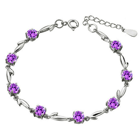 Flirty Amethyst Garland Bracelet. Special One time Deal - Victoria Vault