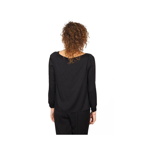 Armani Collezioni ladies shirt long sleeve without buttons RMC25T RM332 999
