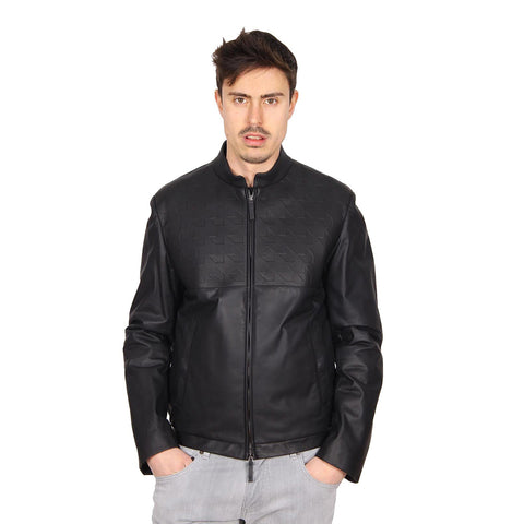 Armani Collezioni mens leather jacket SCR02P SCP02 999