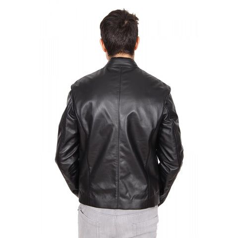 Armani Collezioni mens leather jacket SCR03P SCP01 999