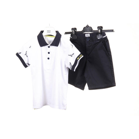 Armani Junior boys set polo & short pant CXT03 RC 1X