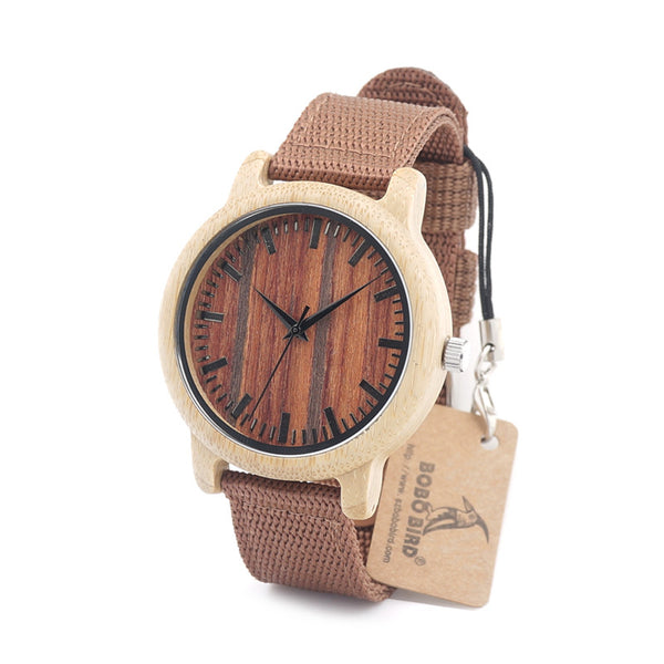 New Eye catching design Bobo Wrist watch the wood grain finish pops with the lite color body. Just gorgeous!!!! - Victoria Vault