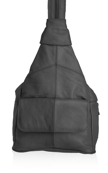 AFONiE Super Soft Leather Backpack Sling Style