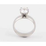 Stainless Steel 3A Zircon Engagement Ring - Victoria Vault