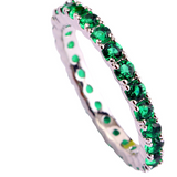 Emerald Green Crystal Anniversary Band - Victoria Vault