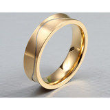 GORGEOUS  18K Gold Plated Ring For Women Men Wedding Engagement STAINLESS STEEL - Victoria Vault