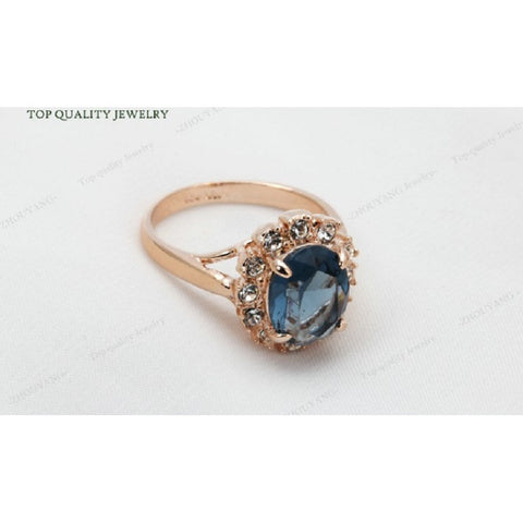 Blue Austrian Crystal Ring