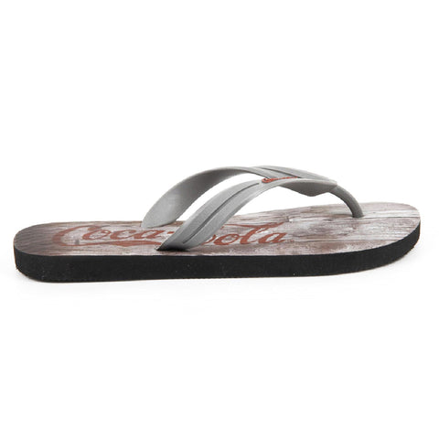 Coca Cola mens flip flop CCA0563 WOOD GRAPHITE