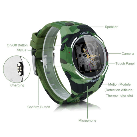 Altitude Detection And Compass Outdoorsman Smart Watch