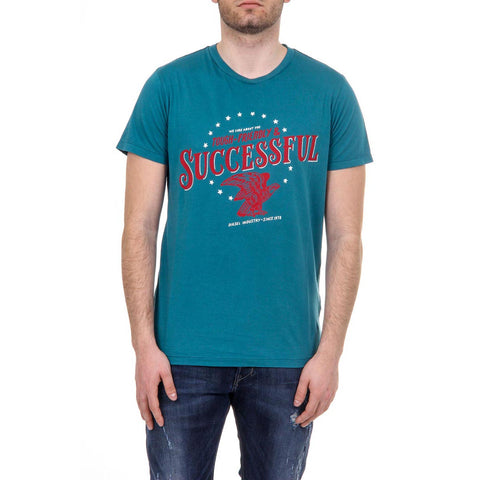 Diesel Mens T-Shirt T-SUCCESSFUL 00SBTT 0R91B 5ED