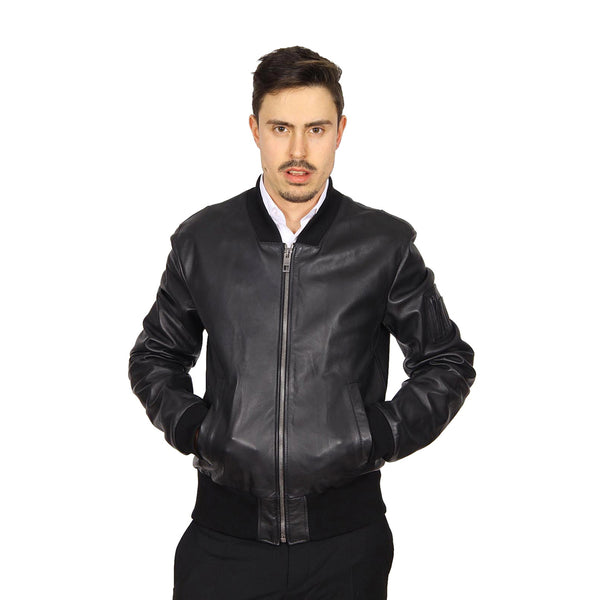Dolce & Gabbana mens leather jacket G9EN0L FUL3A N0000