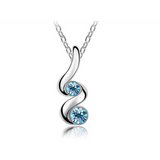 Austrian Crystal Twist Drop Necklace / Pendant - Victoria Vault