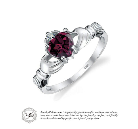 Alexandrite Sapphire Color Change Irish Claddagh Ring
