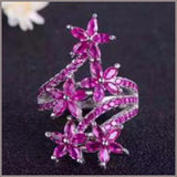 Star Light Star Bright Authentic ruby  pure 925 silver platinum plated