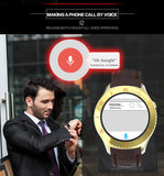 Shatter Proof  Bluetooth Phone  GPS WiFi OLED Smart Watch for Android